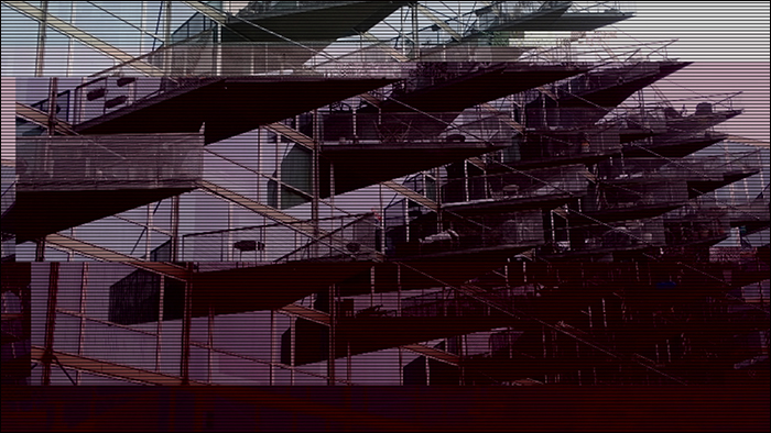 Glitched image - VM-Husene 1