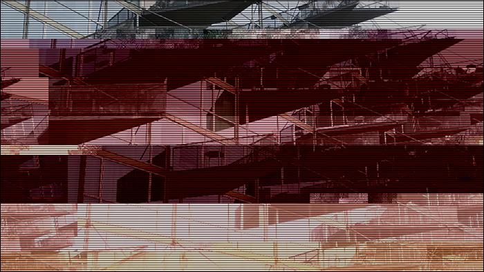 Glitched image - VM-Husene 2