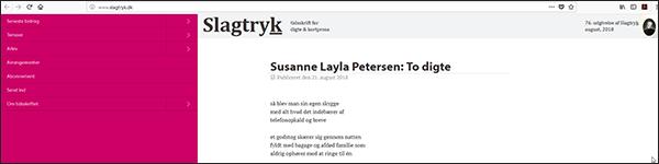 Slagtryk Susanne Layla Petersen