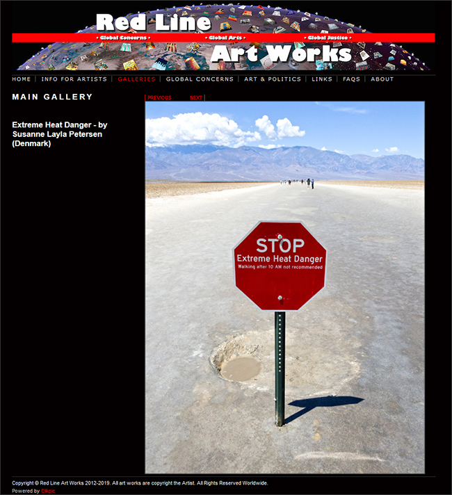 """""""Extreme Heat Danger"""" in Red Line Art Works Gallery"""