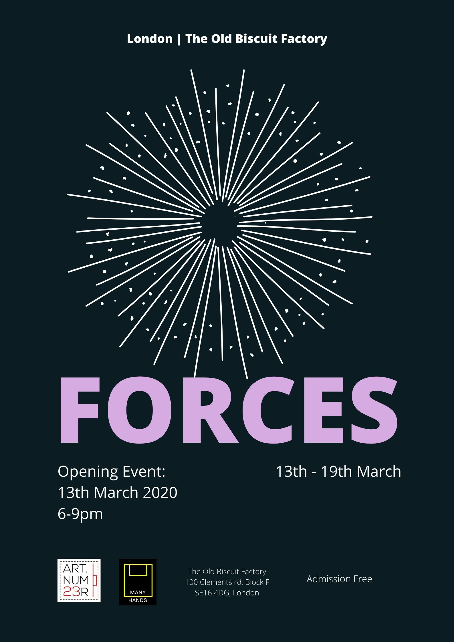 Forces exhibition poster