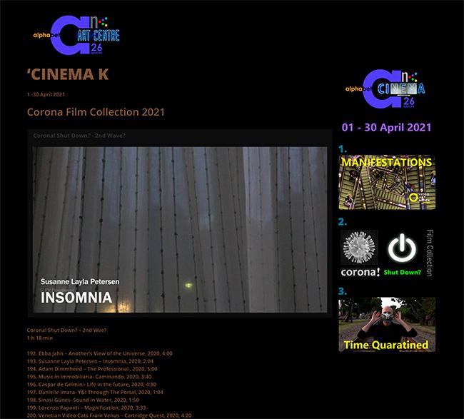 Alphabet Art Centre CINEMA K